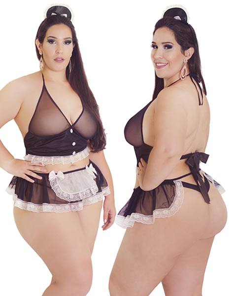 Desire Maid - Hot Flowers Costume Plus Size