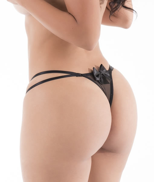 Delicious - Hot Flowers G-String - Black