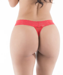 Malicious - Hot Flowers G-String - Red