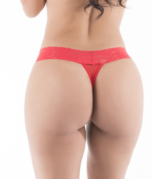 HT006V Thong Malicious color Red by Hot Flowers
