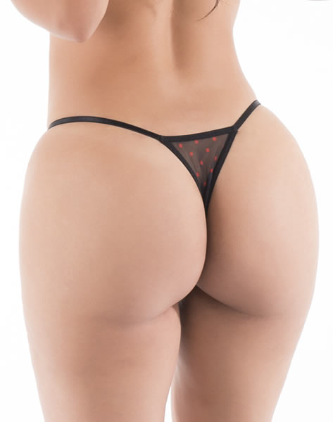 Sin - Hot Flowers G-String - Black