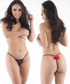 Romantic - Hot Flowers G-String - Black