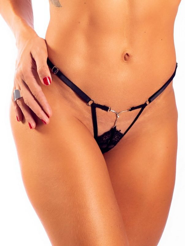 G-String Sexy Black by Hot Flowers