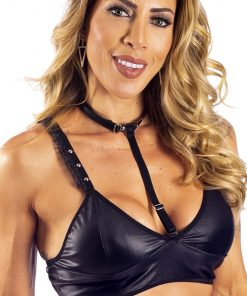 Hot Top Sado Black by Hot Flowers with Removable Collar