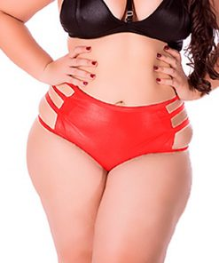 Hot Pants Sado Plus Size Red by Hot Flowers