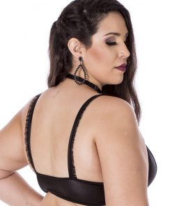 Hot Top Sado Plus Size Black by Hot Flowers with Removable Collar
