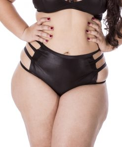 Hot Pants Sado Plus Size Black by Hot Flowers