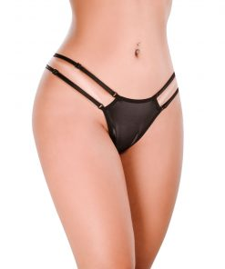 Ht002P G-string Delicious color Black by Hot Flowers