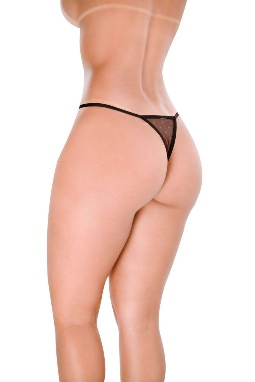 HT003P G-string Sin color Black by Hot Flowers