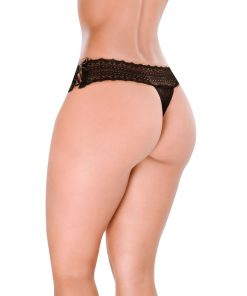 HT005P Thong Baking color Black by Hot Flowers