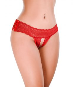 HT005V Thong Baking color Red by Hot Flowers