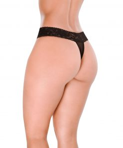 HT006P Thong Malicious color Black by Hot Flowers