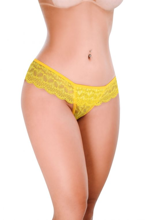 HT007AM Thong Feel Like color Yellow by Hot Flowers
