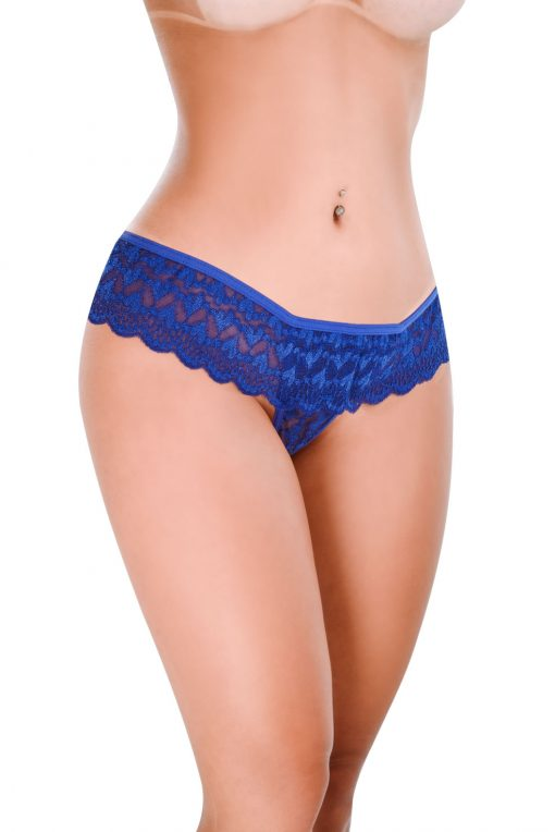 HT007AZ Thong Feel Like color Blue by Hot Flowers