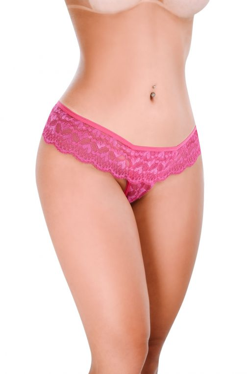 HT007PK Thong Feel Like color Pink by Hot Flowers