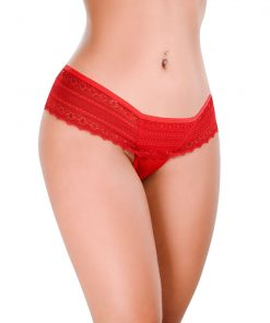 HT007V Thong Feel Like color Red by Hot Flowers