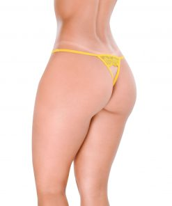 HT008AM Crotchless G-String Bold Yellow Hot Flowers