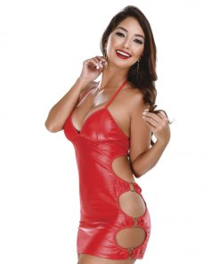 HF015V Bondage Dress Red Hot Flowers