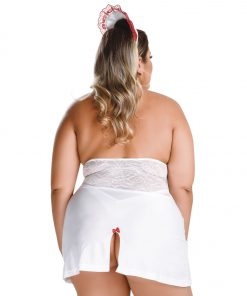 HG002 Naughty Nurse Hot Flowers Costume Plus Size